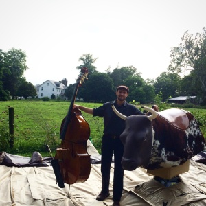 Chris introduces his bass to some electric  bull.