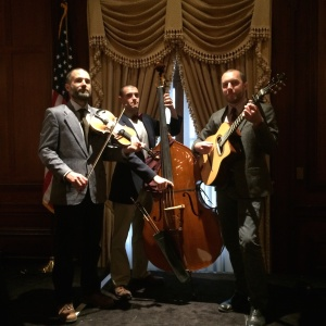 Mountain formal in our jackets, playing hoe-downs for a center city Whiskey Tasting.